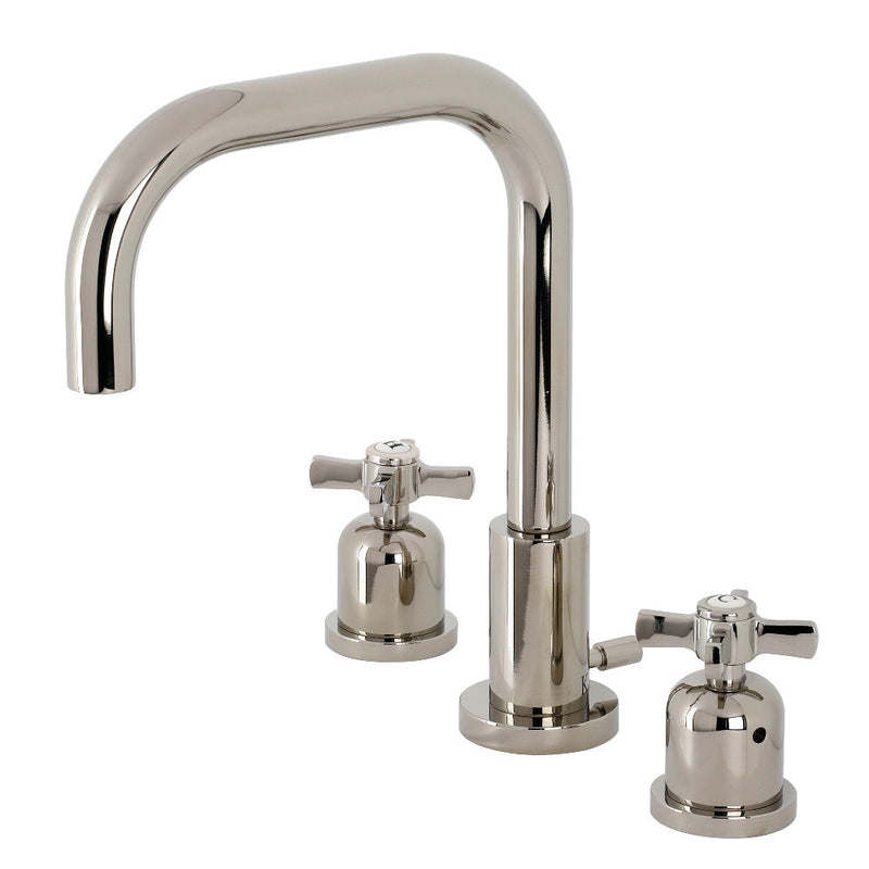 Kingston Brass FSC8939ZX Millennium Widespread Bathroom Faucet with Brass Pop-Up, Polished Nickel
