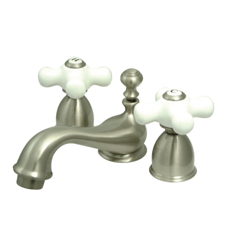 Kingston Brass KS3958PX Mini-Widespread Bathroom Faucet, Brushed Nickel