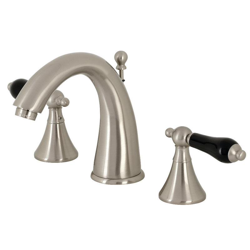 Kingston Brass KS2978PKL Duchess Widespread Bathroom Faucet with Brass Pop-Up, Brushed Nickel