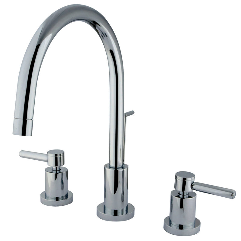 Kingston Brass KS8921DL 8 in. Widespread Bathroom Faucet, Polished Chrome