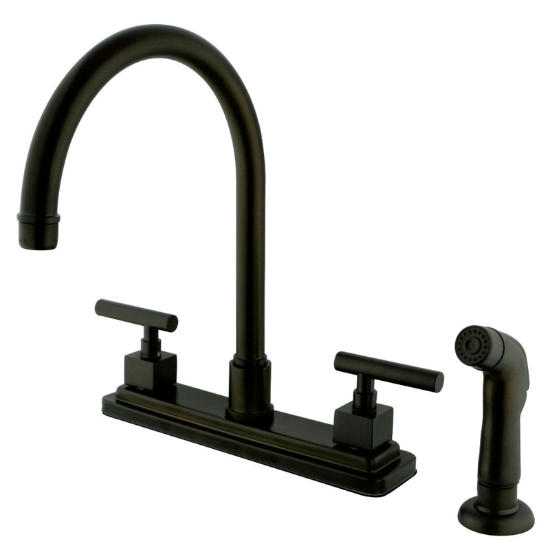 Kingston Brass KS8795CQL Claremont Centerset Kitchen Faucet, Oil Rubbed Bronze