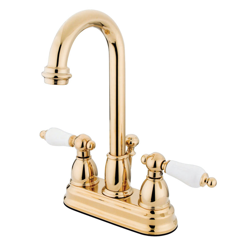Kingston Brass KB3612PL 4 in. Centerset Bathroom Faucet, Polished Brass