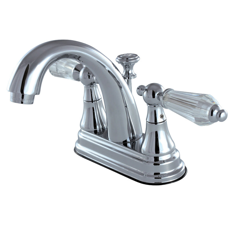 Kingston Brass KS7611WLL 4 in. Centerset Bathroom Faucet, Polished Chrome