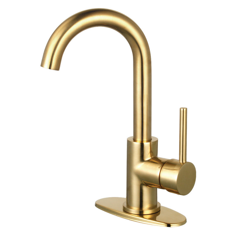 Fauceture LS8433DL Concord Single-Handle Bathroom Faucet with Push Pop-Up, Brushed Brass