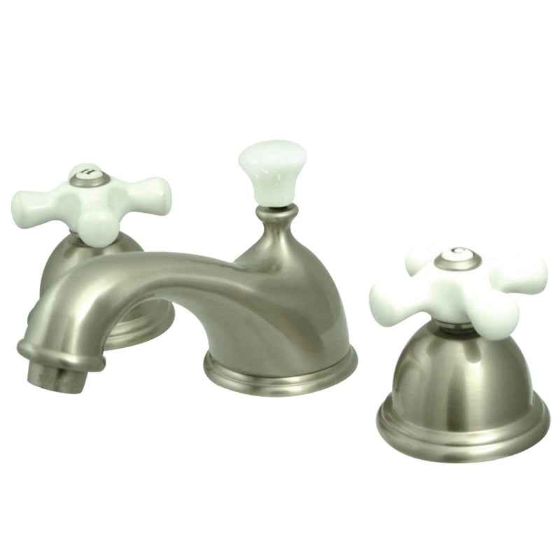 Kingston Brass KS3968PX 8 in. Widespread Bathroom Faucet, Brushed Nickel