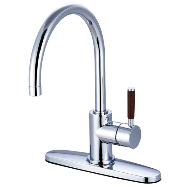 Gourmetier GS8711DWLLS Wilshire Single-Handle Kitchen Faucet, Polished Chrome