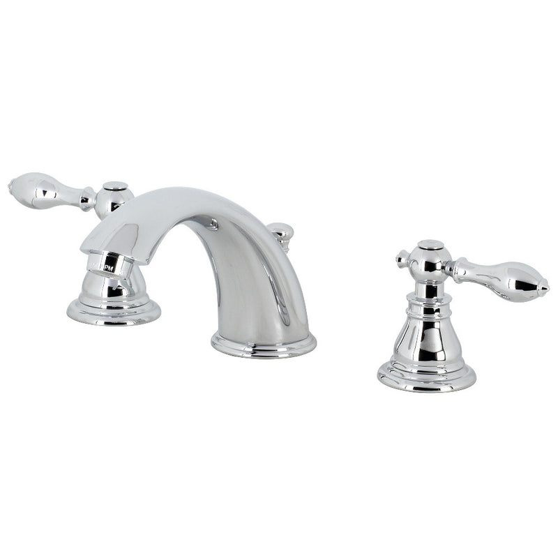 Kingston Brass KB961ACL American Classic Widespread Bathroom Faucet with Retail Pop-Up, Polished Chrome