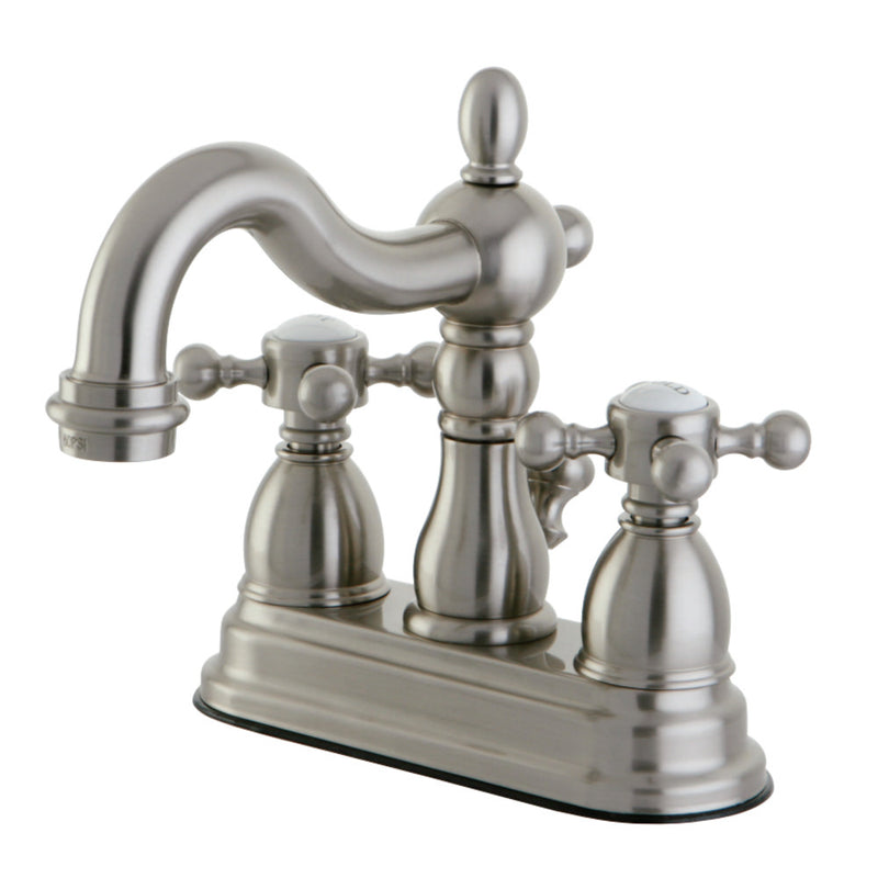 Kingston Brass KS1608BX 4 in. Centerset Bathroom Faucet, Brushed Nickel
