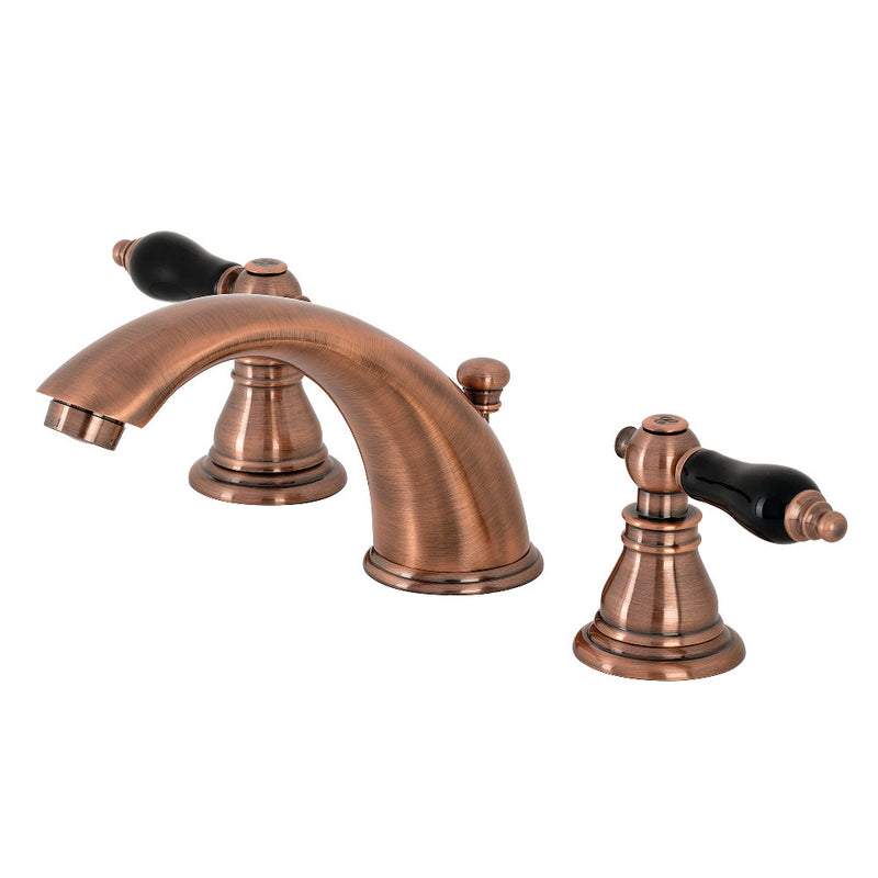 Kingston Brass KB966AKL Duchess Widespread Bathroom Faucet with Plastic Pop-Up, Antique Copper