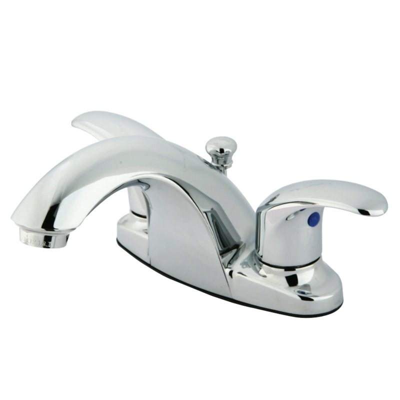 Kingston Brass KB7641LL 4 in. Centerset Bathroom Faucet, Polished Chrome