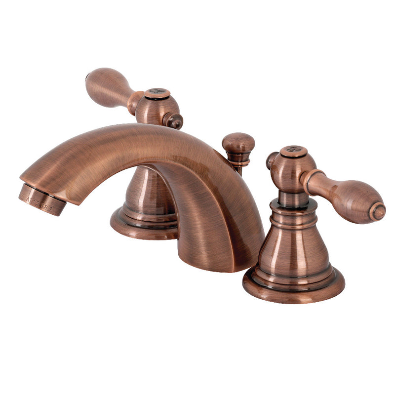 Kingston Brass KB956ACL American Classic Mini-Widespread Bathroom Faucet with Plastic Pop-Up, Antique Copper