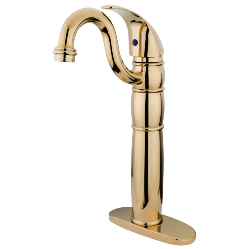 Kingston Brass KB1422LL Vessel Sink Faucet, Polished Brass