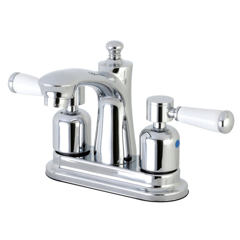 Kingston Brass FB7621DPL 4 in. Centerset Bathroom Faucet, Polished Chrome