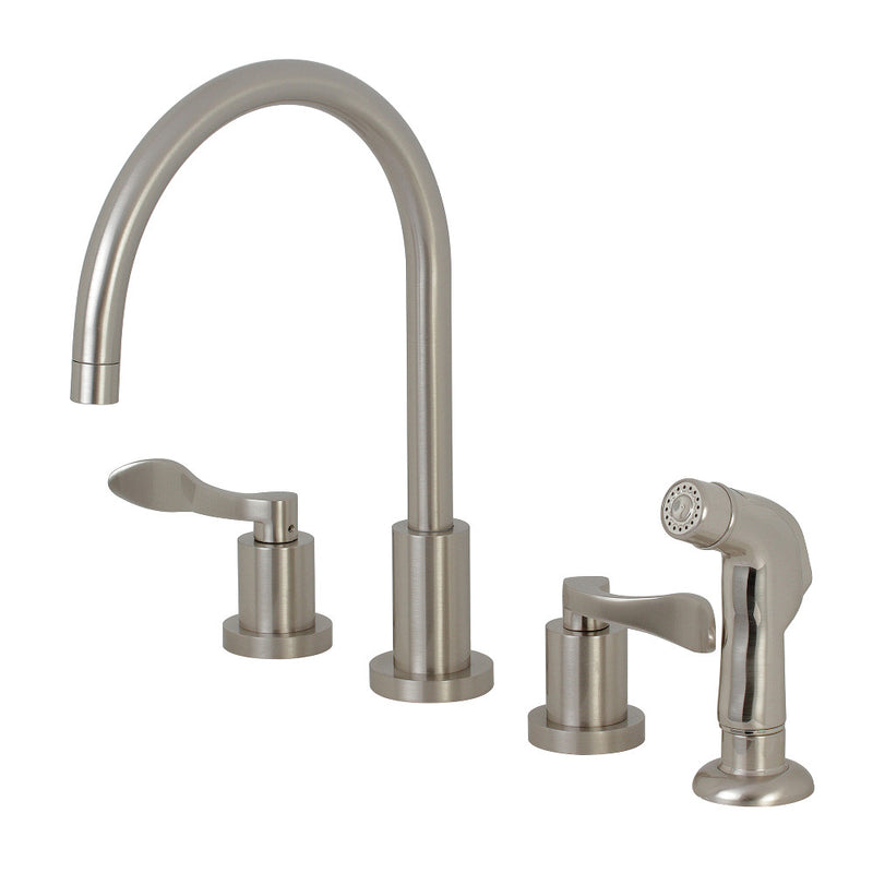 Kingston Brass KS8728DFL 8-Inch to 16-Inch Widespread Kitchen Faucet, Brushed Nickel