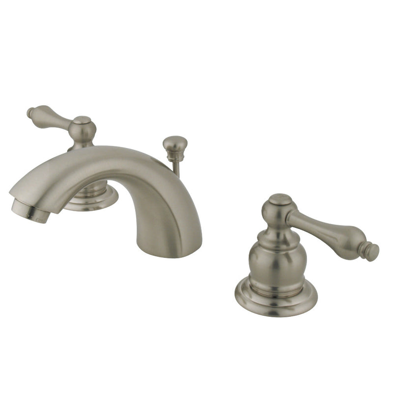 Kingston Brass GKB948AL Mini-Widespread Bathroom Faucet, Brushed Nickel