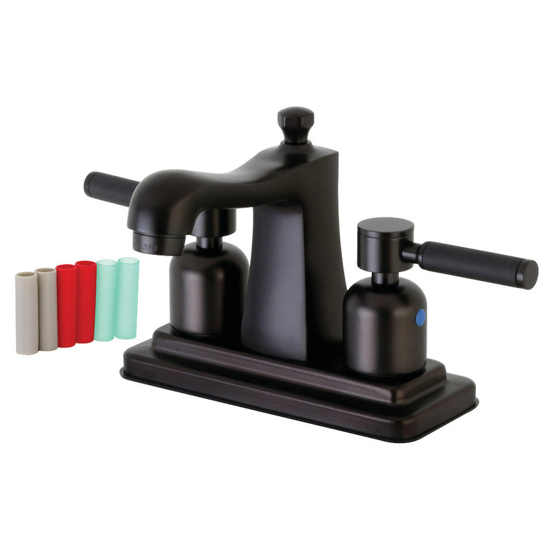 Kingston Brass FB4645DKL 4 in. Centerset Bathroom Faucet, Oil Rubbed Bronze