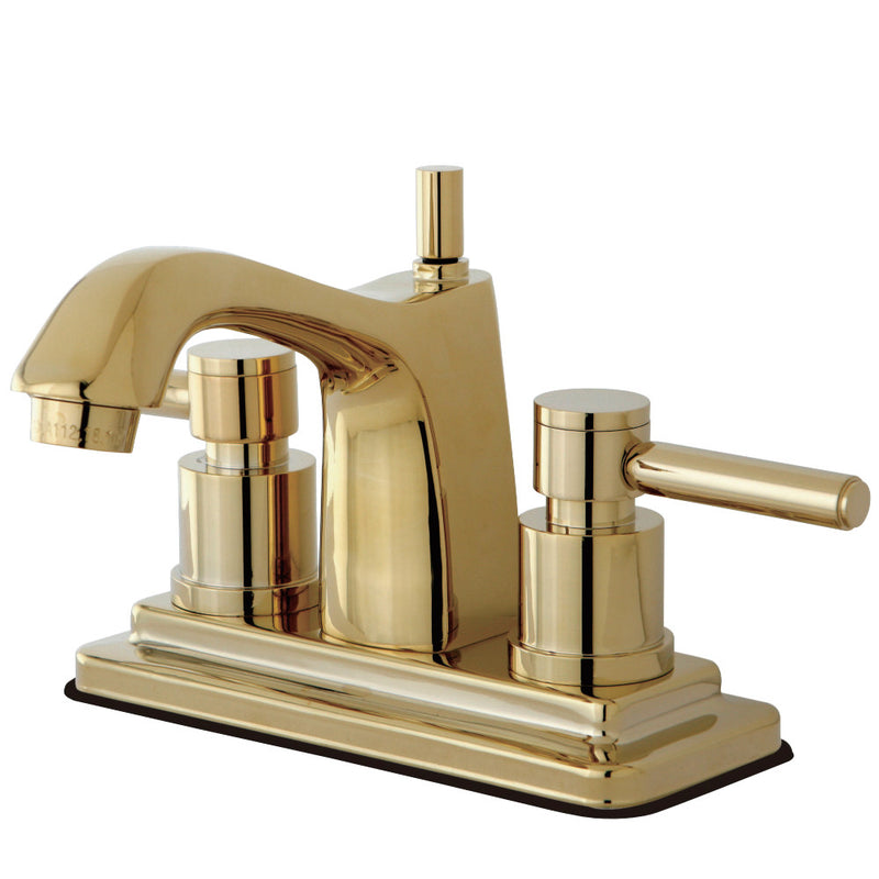 Kingston Brass KS8642DL 4 in. Centerset Bathroom Faucet, Polished Brass