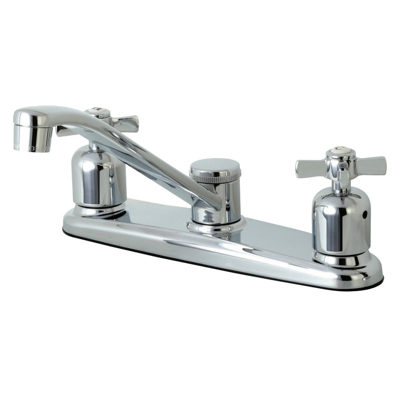 Kingston Brass FB111ZX Millennium 8-Inch Centerset Kitchen Faucet, Polished Chrome