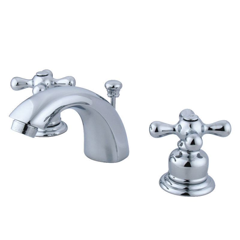 Kingston Brass GKB941AX Mini-Widespread Bathroom Faucet, Polished Chrome