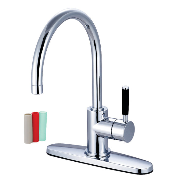 Gourmetier GS8711DKLLS Kaiser Single-Handle Kitchen Faucet, Polished Chrome