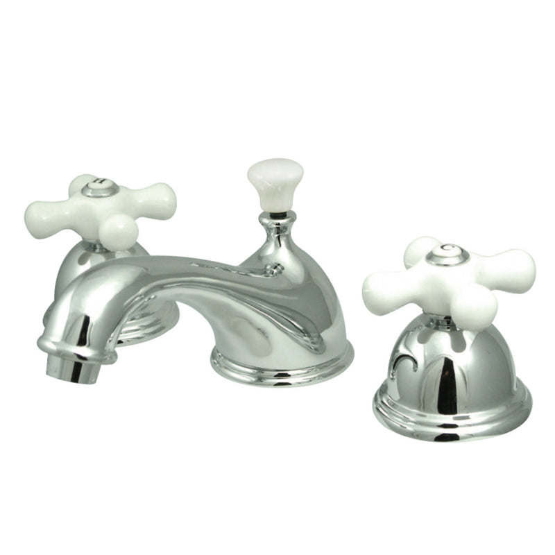 Kingston Brass CC40L1 8 to 16 in. Widespread Bathroom Faucet, Polished Chrome