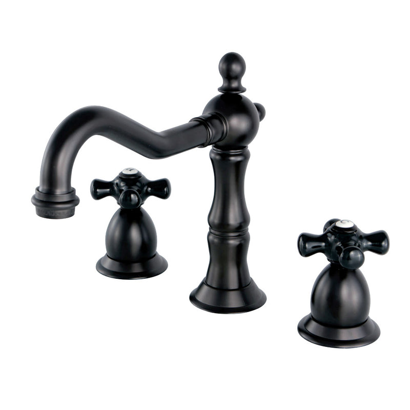 Kingston Brass KS1975PKX Duchess Widespread Bathroom Faucet with Brass Pop-Up, Oil Rubbed Bronze