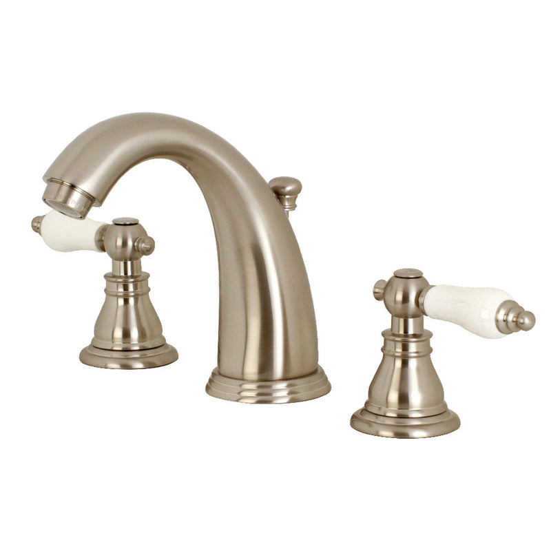 Kingston Brass KB988APL Widespread Bathroom Faucet, Brushed Nickel
