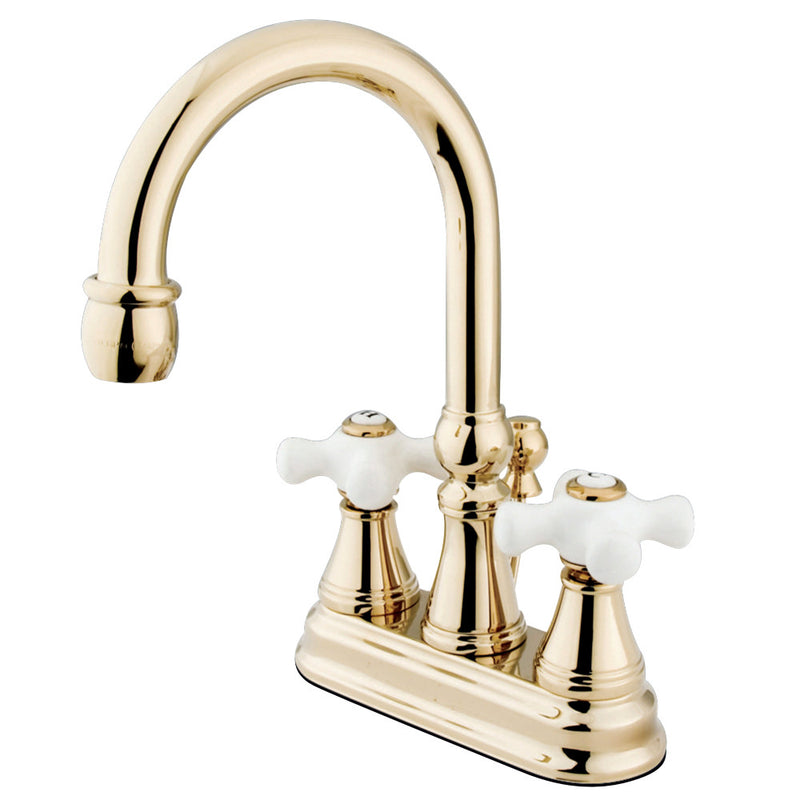 Kingston Brass KS2612PX 4 in. Centerset Bathroom Faucet, Polished Brass
