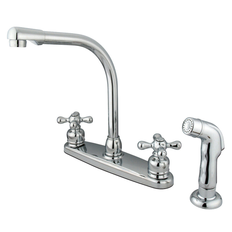 Kingston Brass GKB711AXSP Victorian Centerset Kitchen Faucet, Polished Chrome