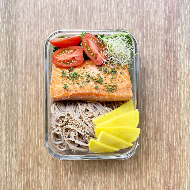 Grilled Salmon & Soba