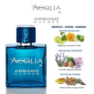 Fragancia para caballero Acqua by Armand Dupree 80ml