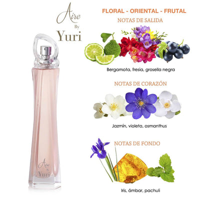 Fragancia para dama Aire by Yuri 50 ml
