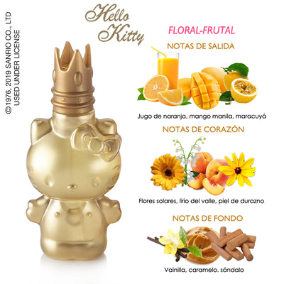 Fragancia para dama Hello Kitty Gold 60ml