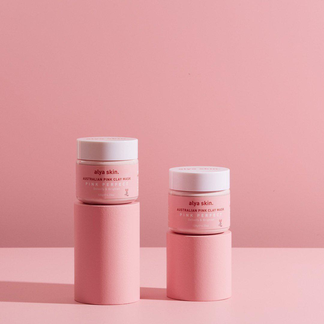 Alya Skin Pink Clay Mask (120g) - Twin Pack