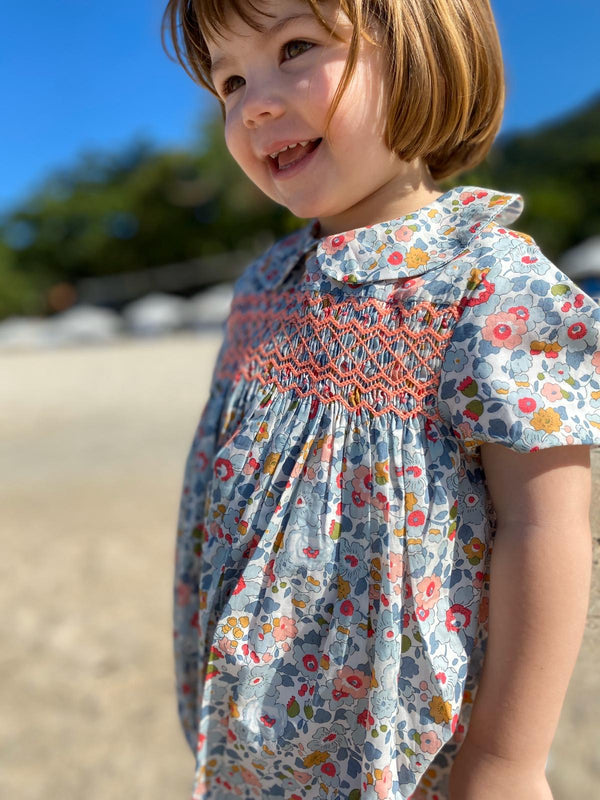 Antoinette Dress Liberty Betsy with Watermelon Smocking