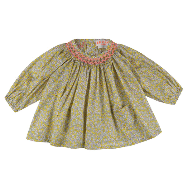 Joan of Arc Blouse Liberty Ffion Yellow with Watermelon Smocking