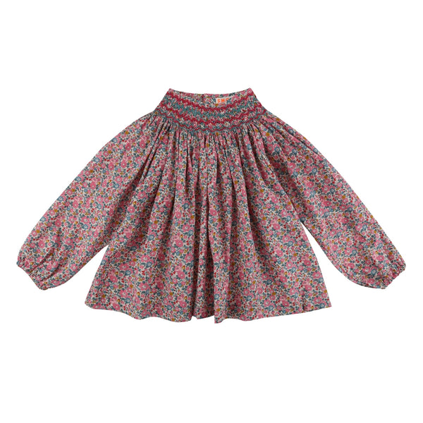 Joan of Arc Blouse Liberty Betsy Ann with Neptune/Mulberry Smocking