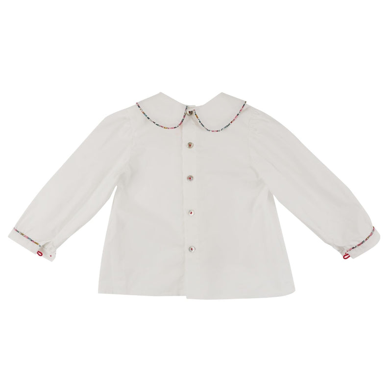 Marie Curie Blouse White with Liberty Betsy Ann Piping