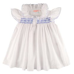Nightingale Shortie Night Dress Moonstone with Forget Me Not Smocking