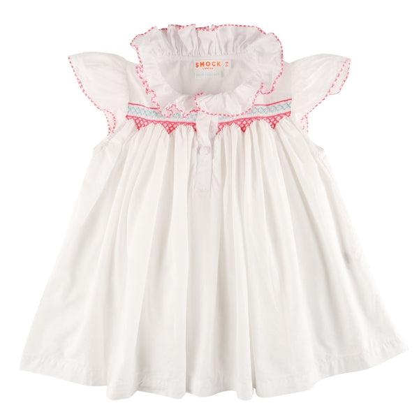 Nightingale Shortie Night Dress Moonstone with Lollipop and Peppermint Smocking