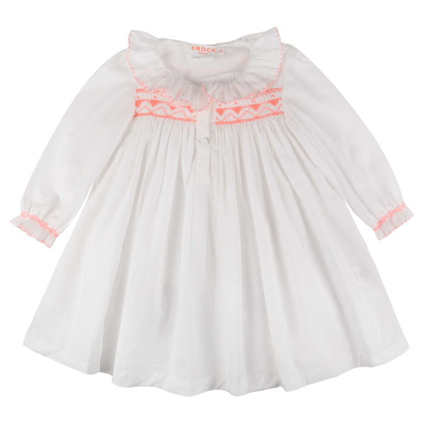 Nightingale Night Dress Moonstone with Watermelon Smocking