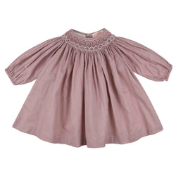 Queen Victoria Dress Vintage Blush with Milk/Raspberry Smocking