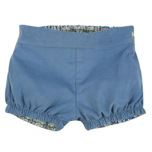 Wangari Bloomers Cornflower Needlecord with Contrast Liberty Trim