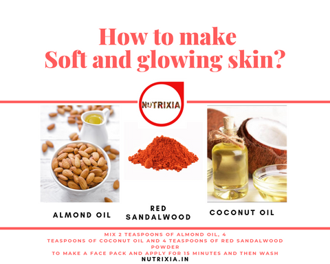 Soft and Glowing skin face pack -Nutrixia food