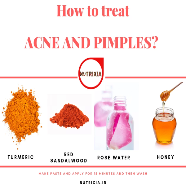 Acne and Pimple Face Pack-Turmeric ,Sandalwood,Rose water - Nutrixia