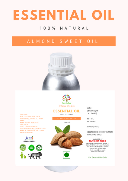 Almond Sweet Oil - 1 Liter - Nutrixia Food