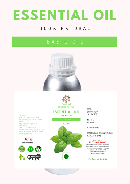 Basil Oil - 1 Liter - Nutrixia Food