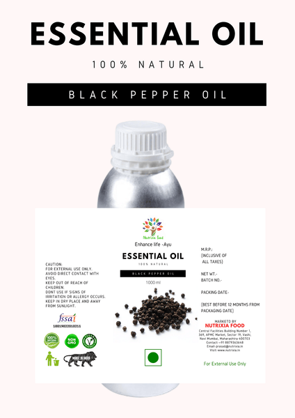 Black Pepper Oil - 1 Liter - Nutrixia Food