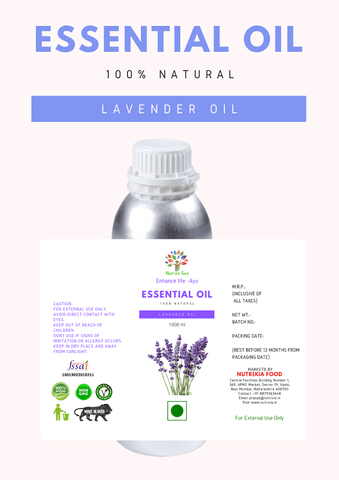 Lavender Oil - 1 Liter - Nutrixia Food