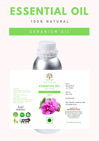 Geranium Oil- 1 Liter - Nutrixia Food